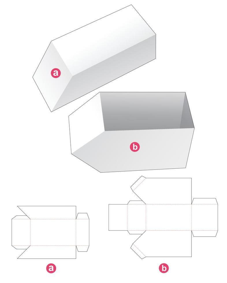 bandeja angular com molde de tampa chanfrada e cortada vetor