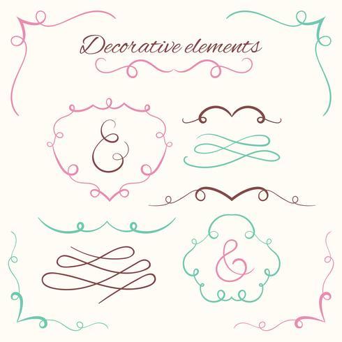 Conjunto de divisores de mão desenhada. Conjunto de bordas decorativas. Molduras decorativas ornamentais vetor