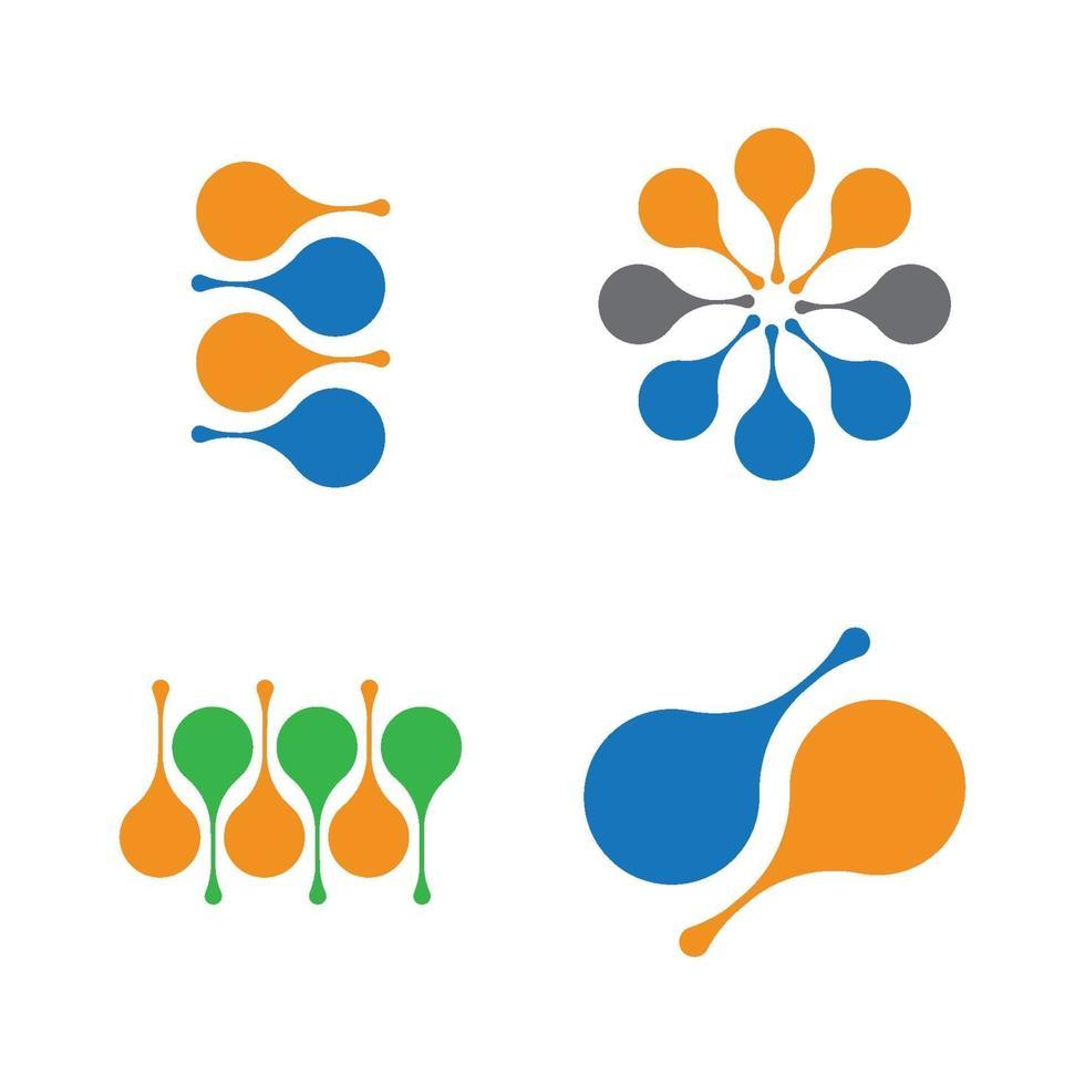 desenho do logotipo da molécula vetor