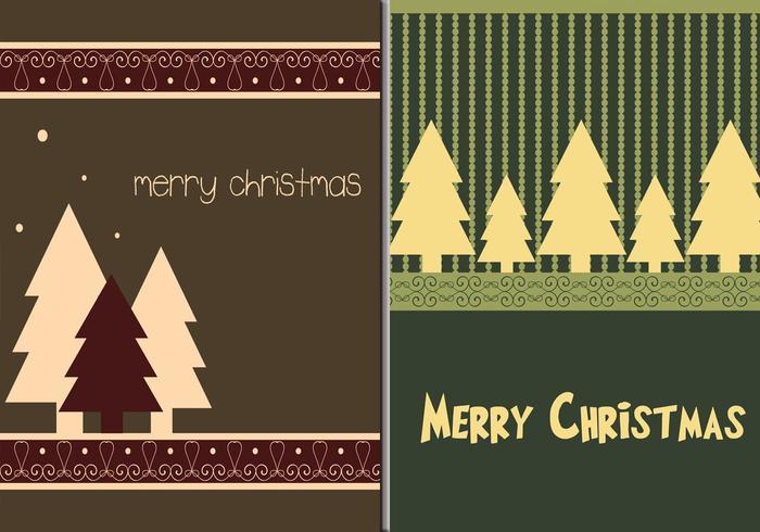 Papéis de Parede de Feliz Natal Árvore Ilustrador vetor