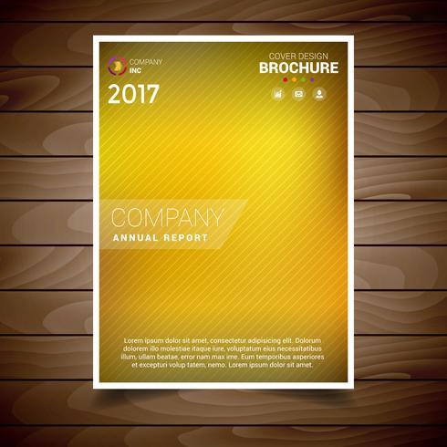 Modelo de Design de brochura de borrão de ouro vetor