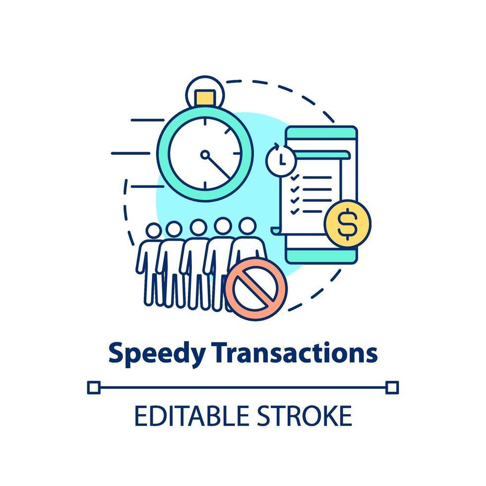 ícone de conceito de transações rápidas vetor