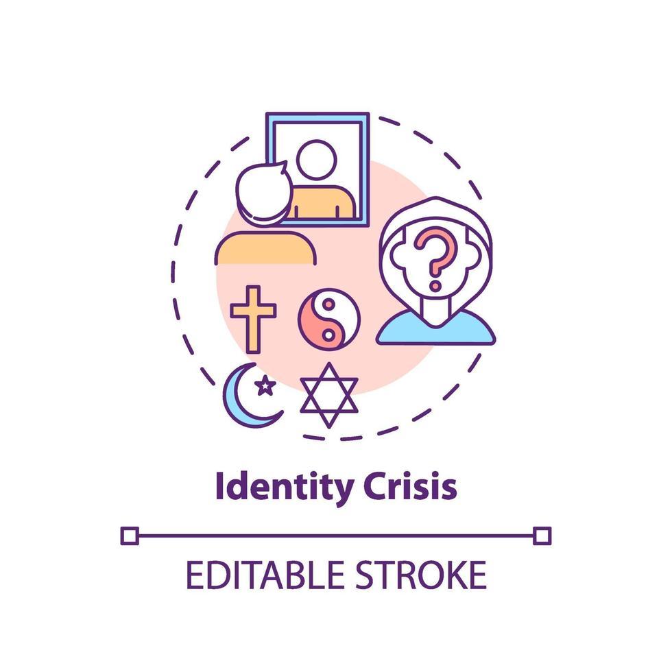 ícone do conceito de crise de identidade vetor