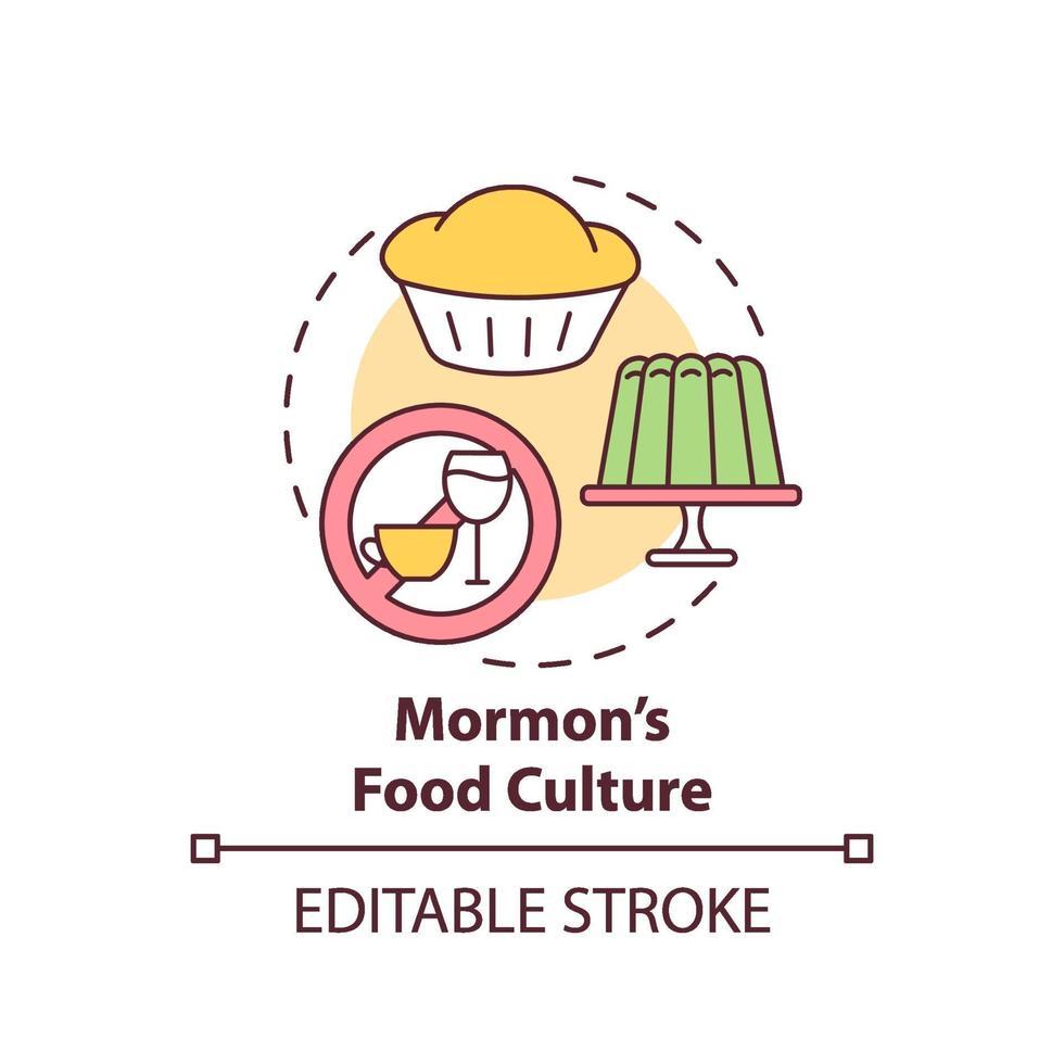 ícone do conceito de cultura alimentar mórmon vetor