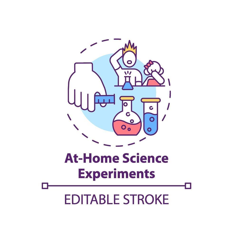 em casa ícone de conceito de experimentos científicos vetor