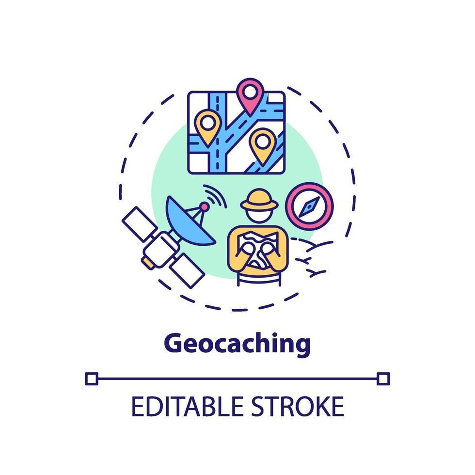 ícone do conceito de geocaching vetor