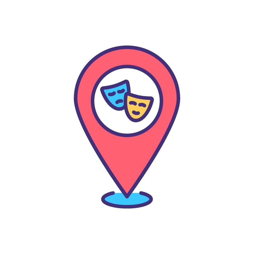 ícone de cor rgb de arte local vetor