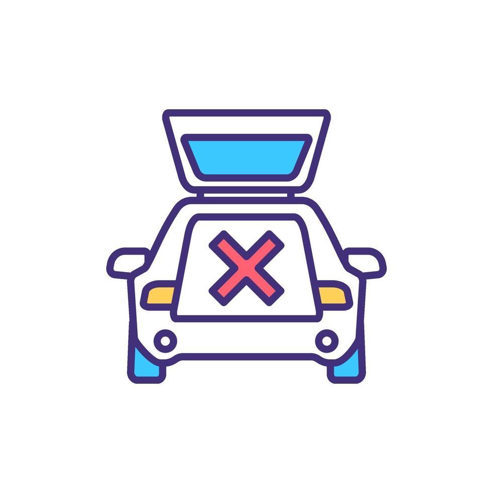nenhum ícone de cor rgb de estacionamento vetor
