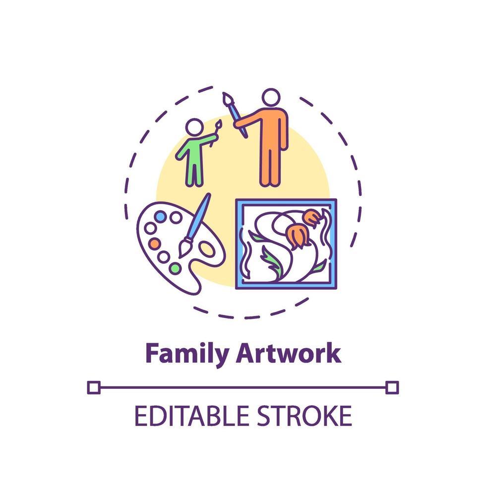ícone do conceito de arte familiar vetor