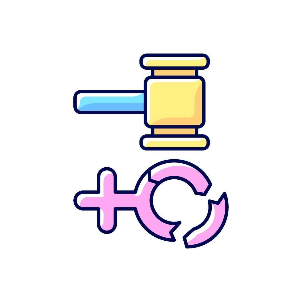 ícone de cor rgb misoginia vetor