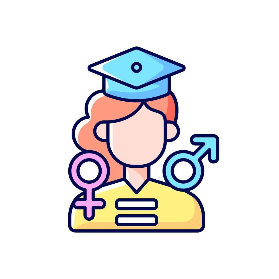 oportunidades iguais de educação rgb color icon vetor