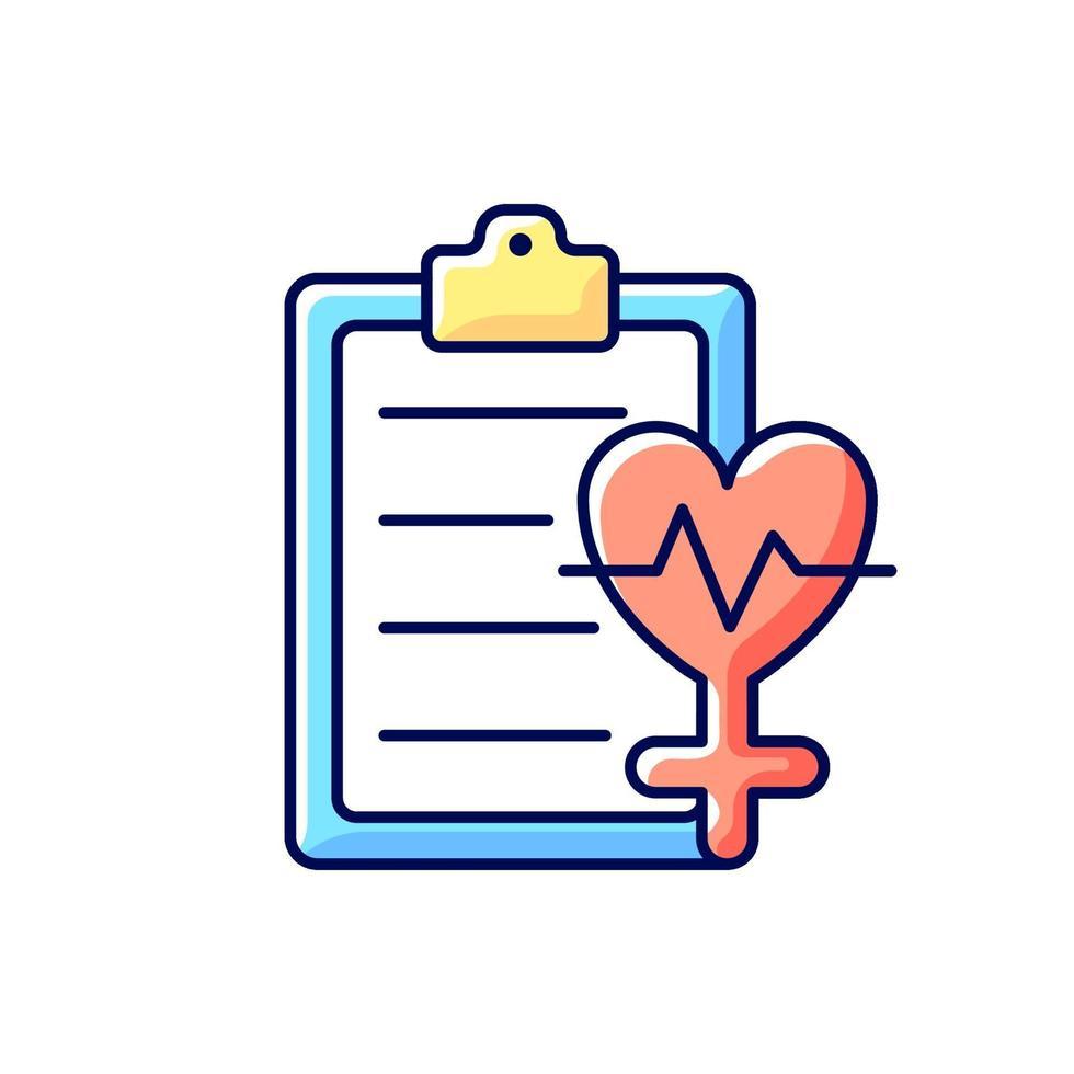acesso ao ícone de cor rgb de saúde vetor