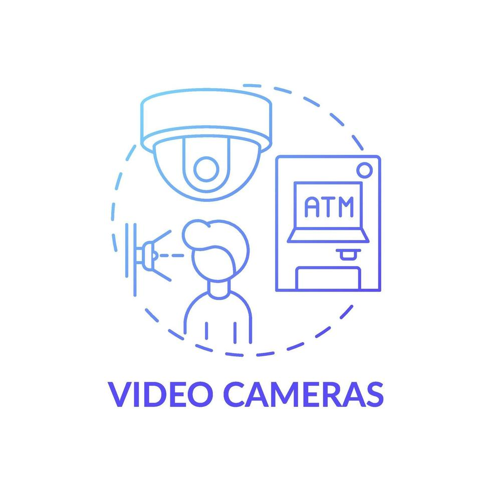 ícone do conceito de câmeras de vídeo vetor