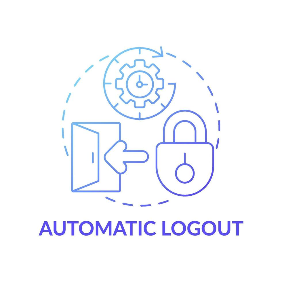 ícone do conceito de logout automático vetor