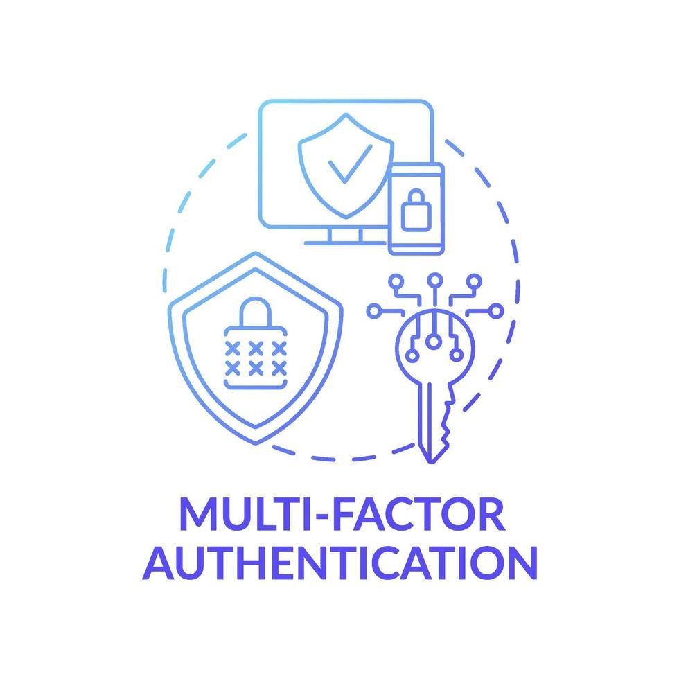 ícone do conceito de autenticação multifator vetor