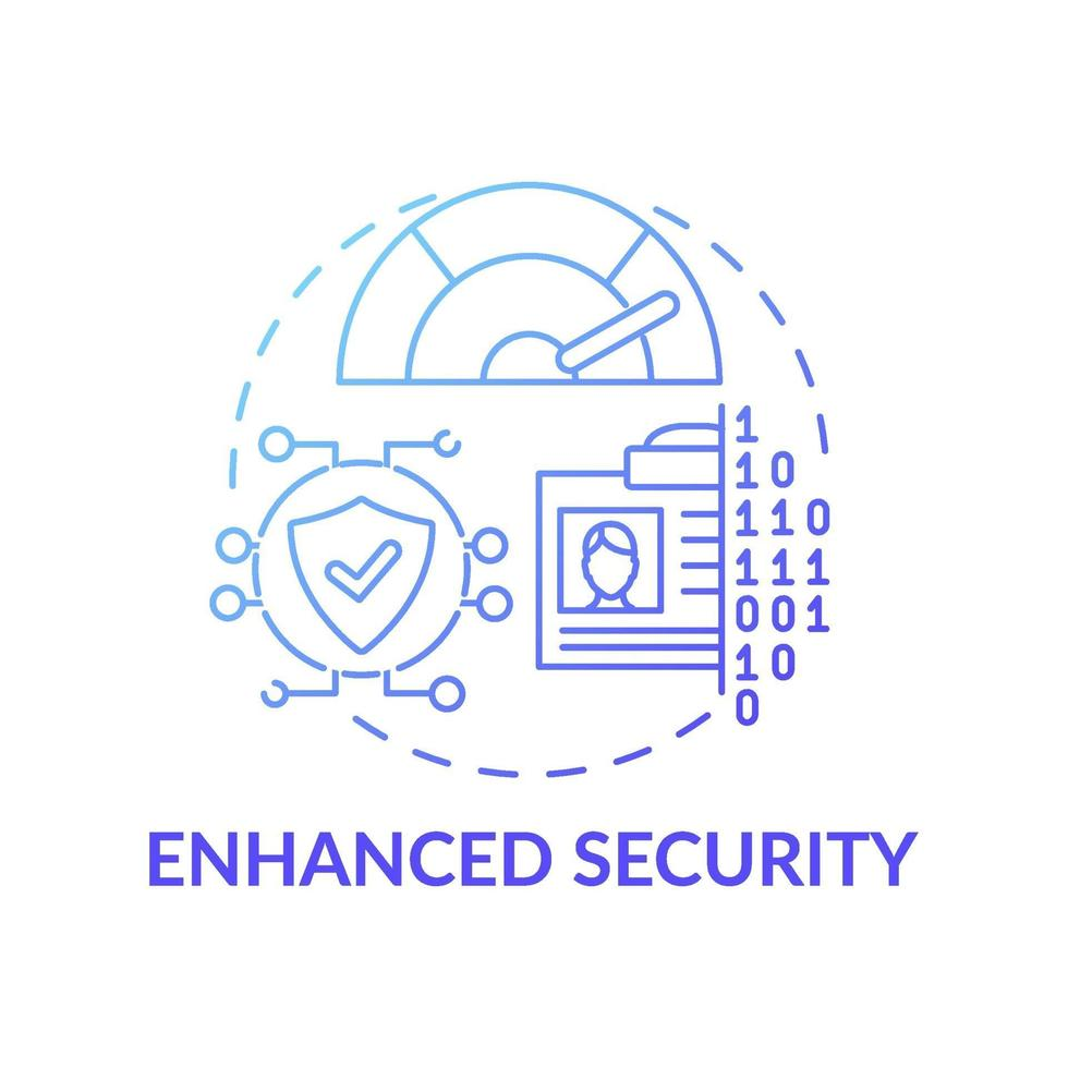 ícone de conceito de segurança aprimorada vetor