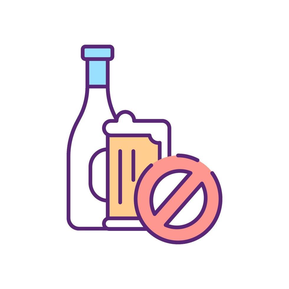 nenhum sinal de álcool ícone de cor rgb vetor