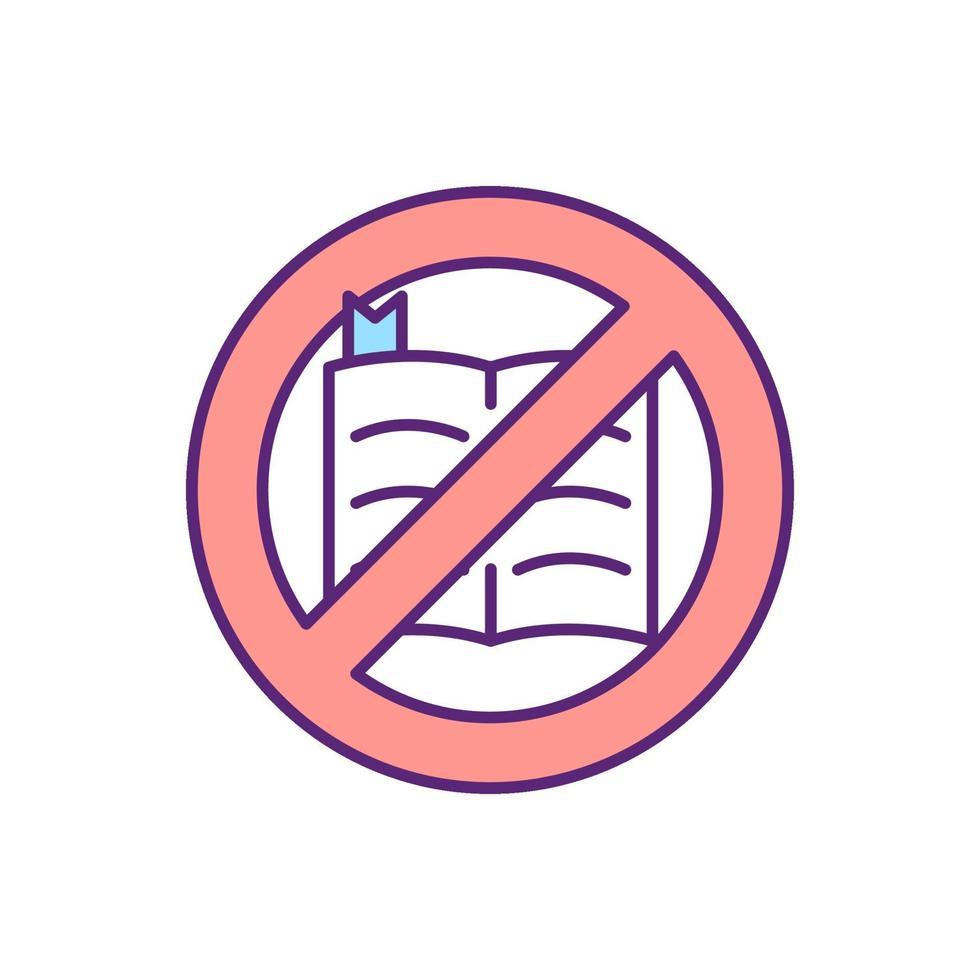 nenhum ícone de cor rgb da Bíblia vetor