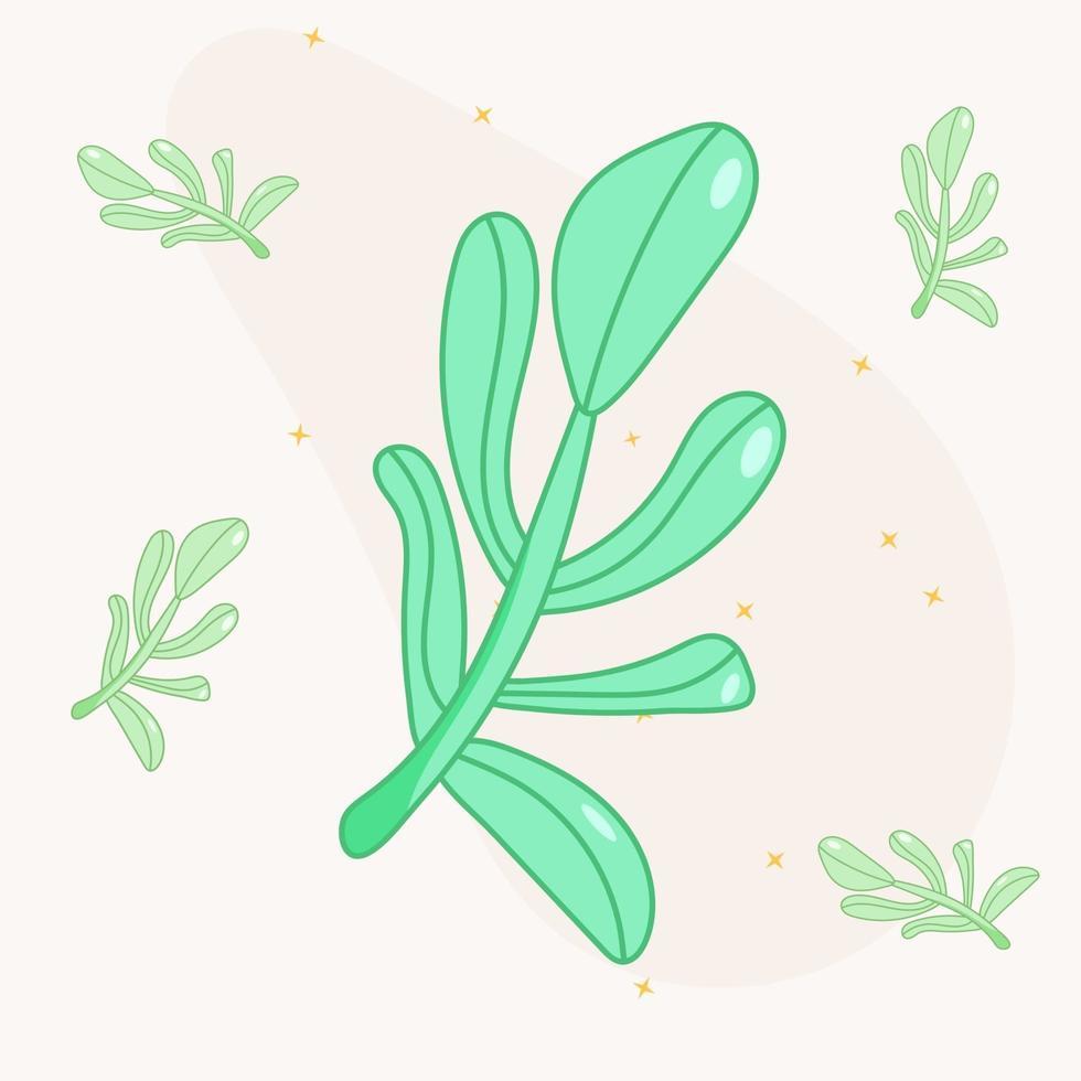 ramo verde da moda para decoração vetor