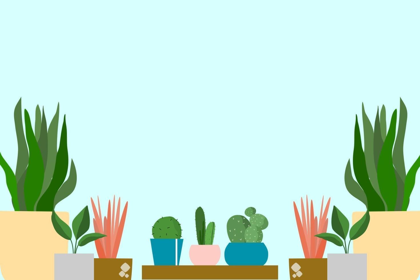 vetor de fundo de plantas decorativas