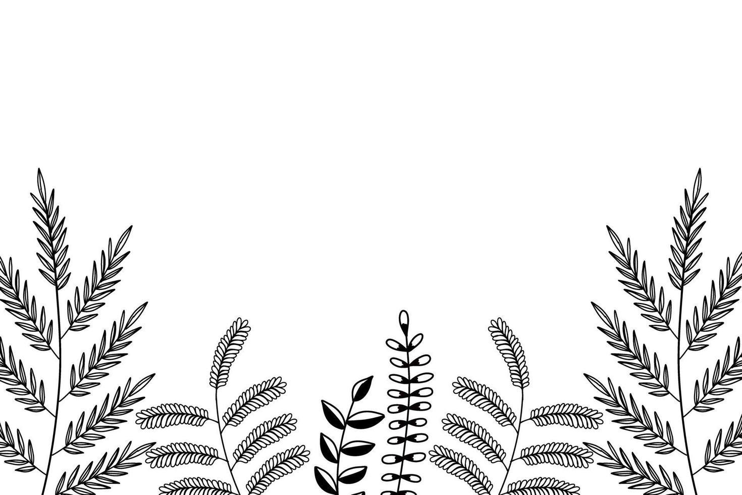 vetor de fundo de folha