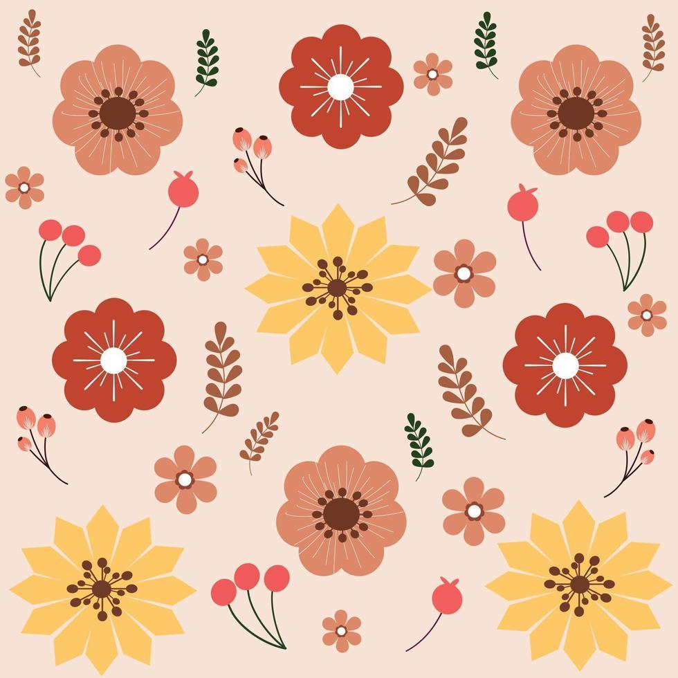 vetor de padrão floral