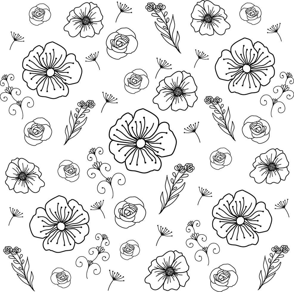 ilustração em vetor linha arte padrão