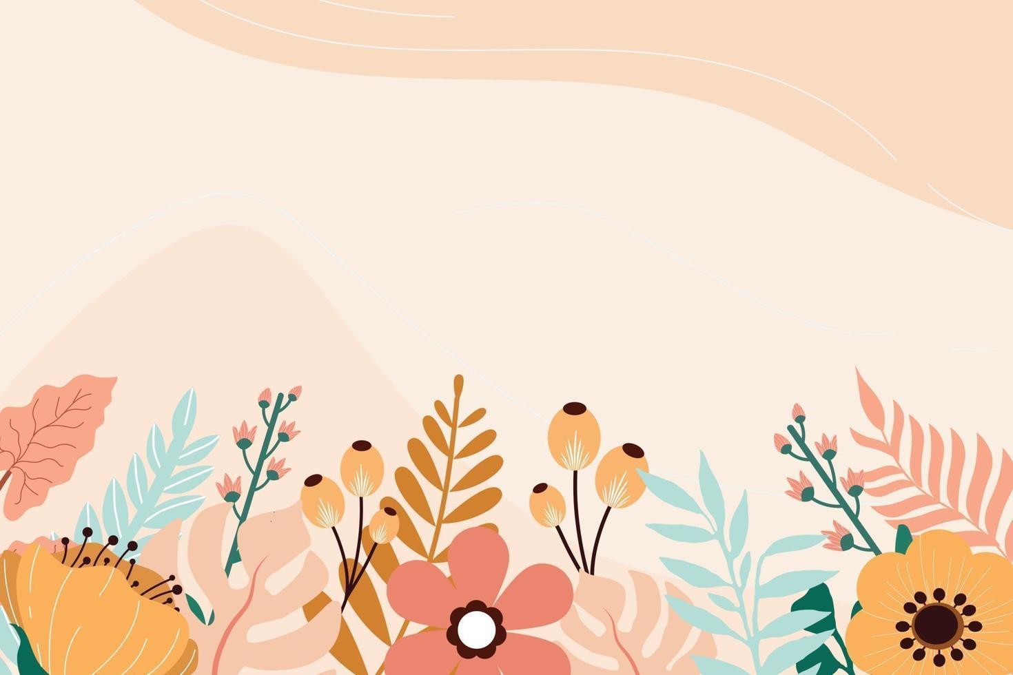 vetor de fundo floral de beleza