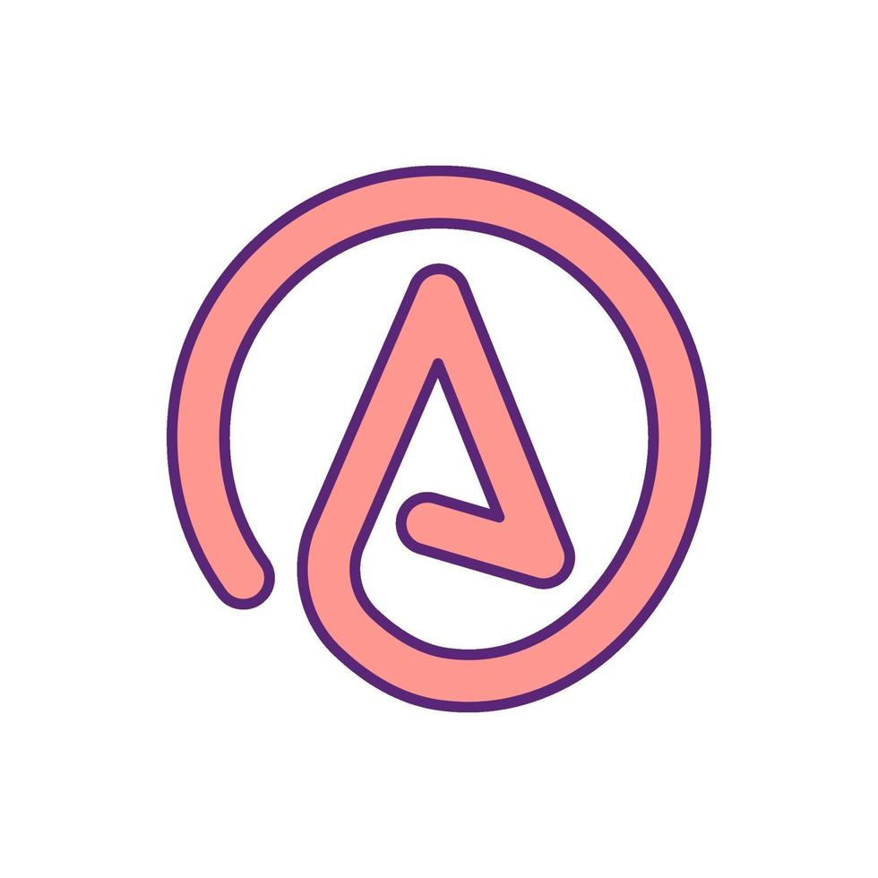 ícone de cor de símbolo abstrato vetor
