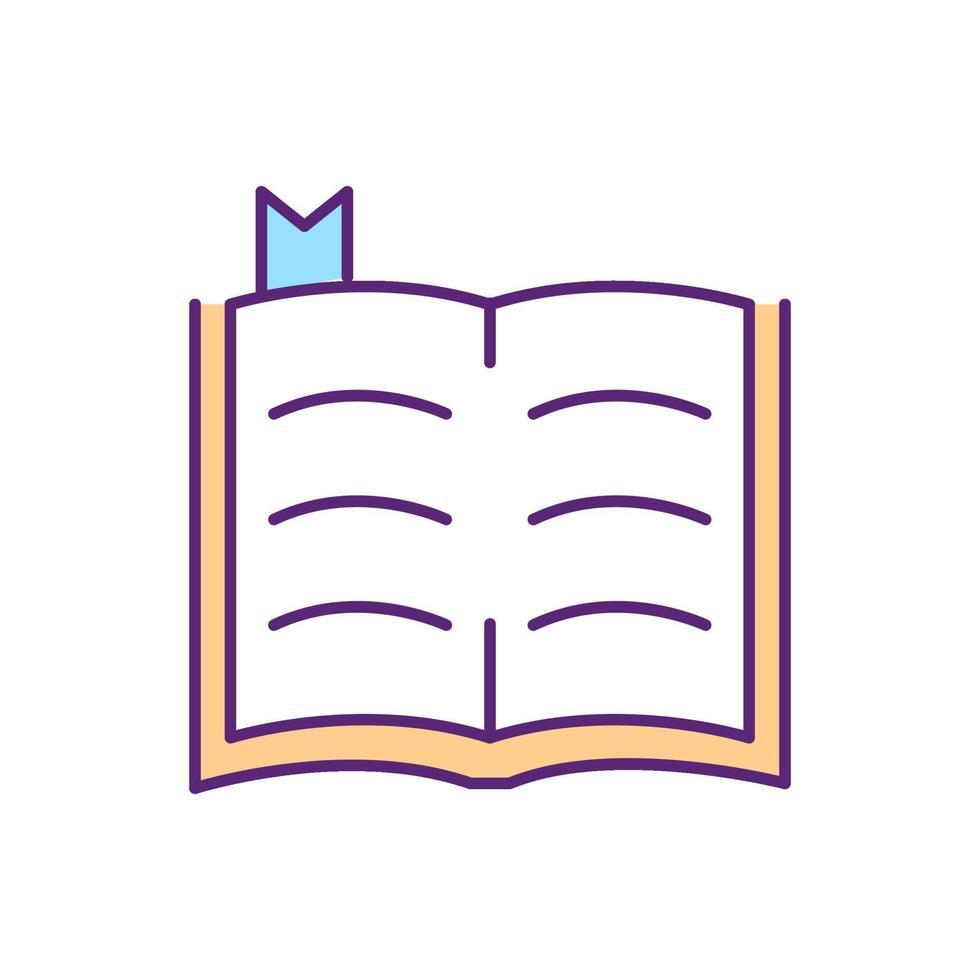 ícone de cor rgb da Bíblia vetor