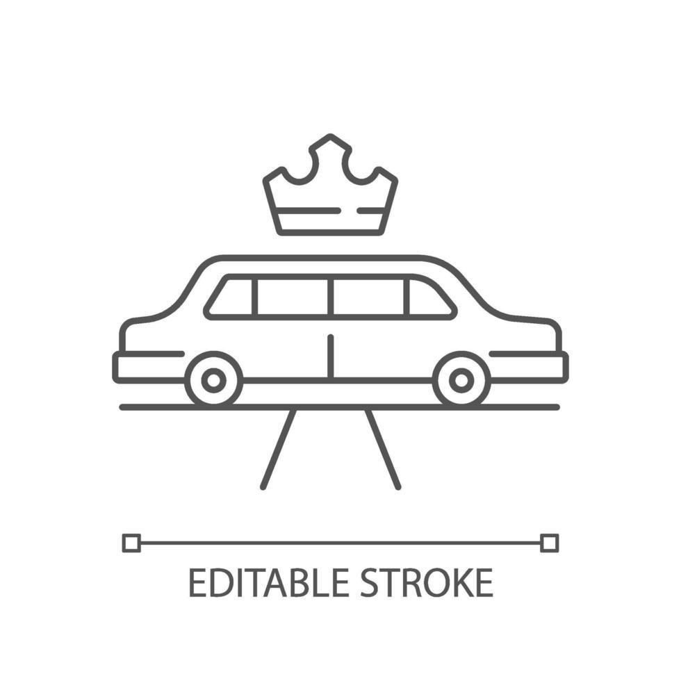 ícone linear de serviço de limusine vetor