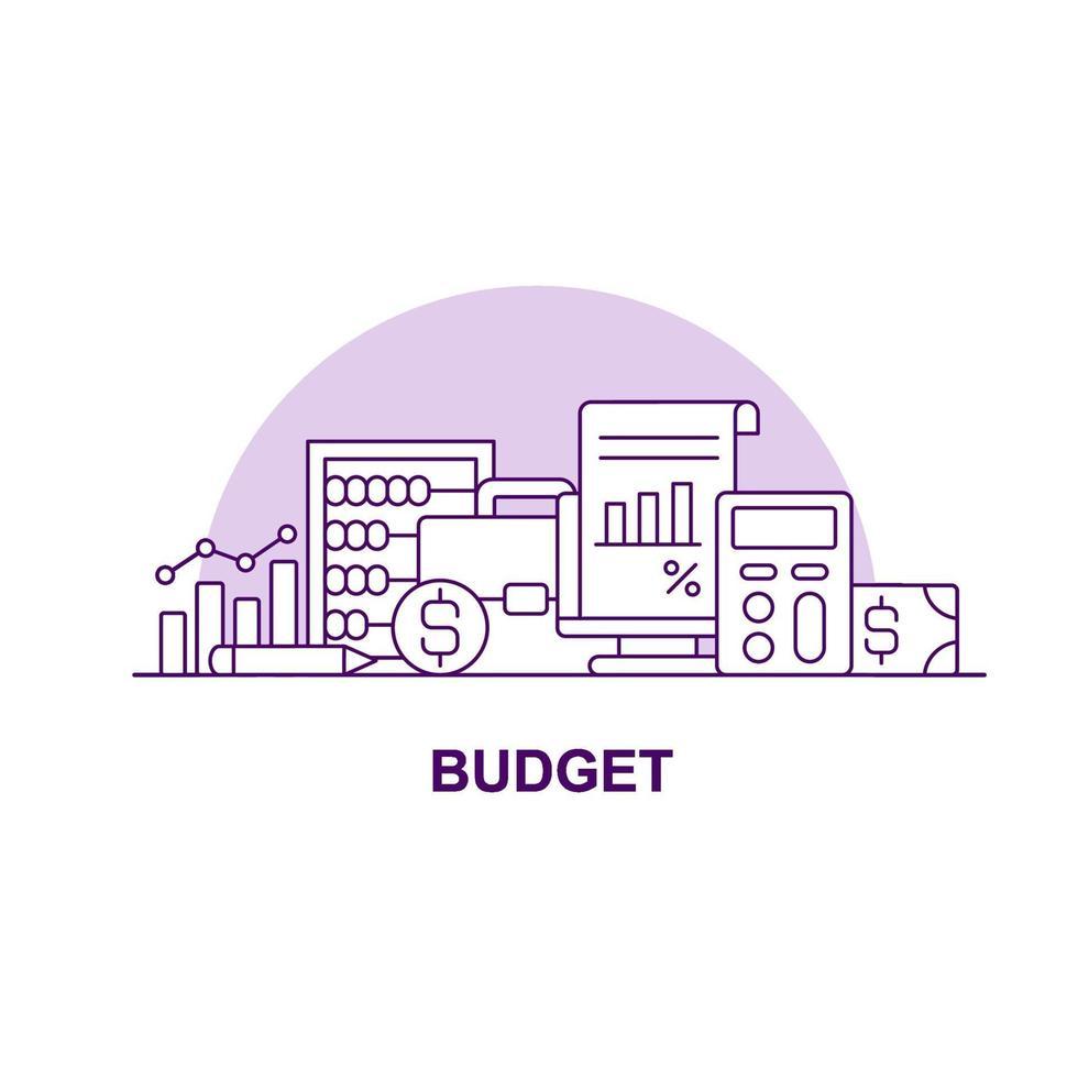 ícone de conceito de interface do usuário criativo de orçamento vetor