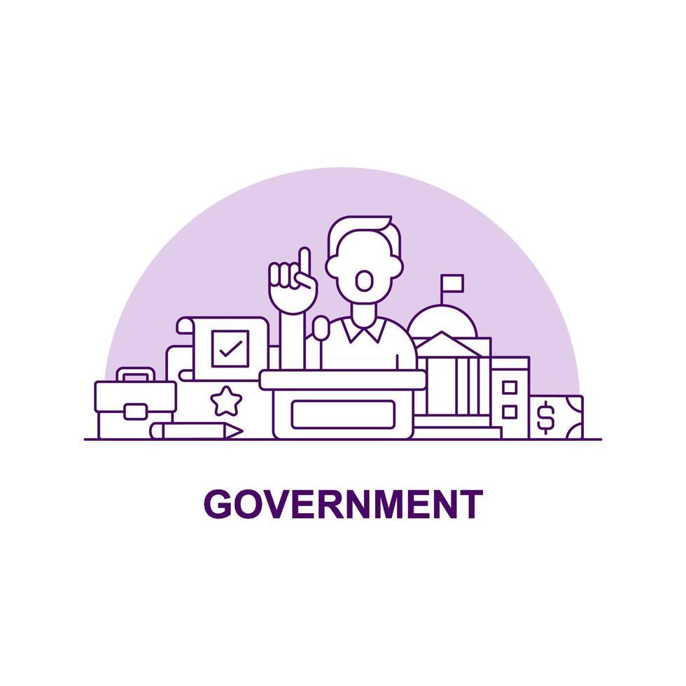 ícone de conceito de interface do usuário criativa do governo vetor
