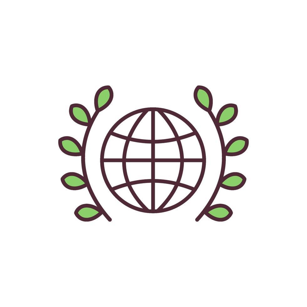 ícone de cor rgb da paz mundial vetor