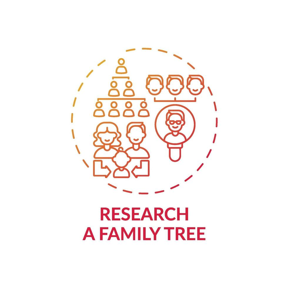pesquisar um ícone do conceito de árvore genealógica vetor