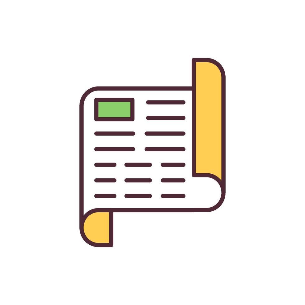 ícone de cor rgb de declaração vetor