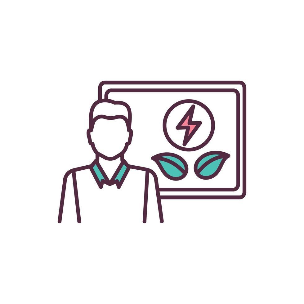 ícone de cores rgb de produtividade de recursos vetor