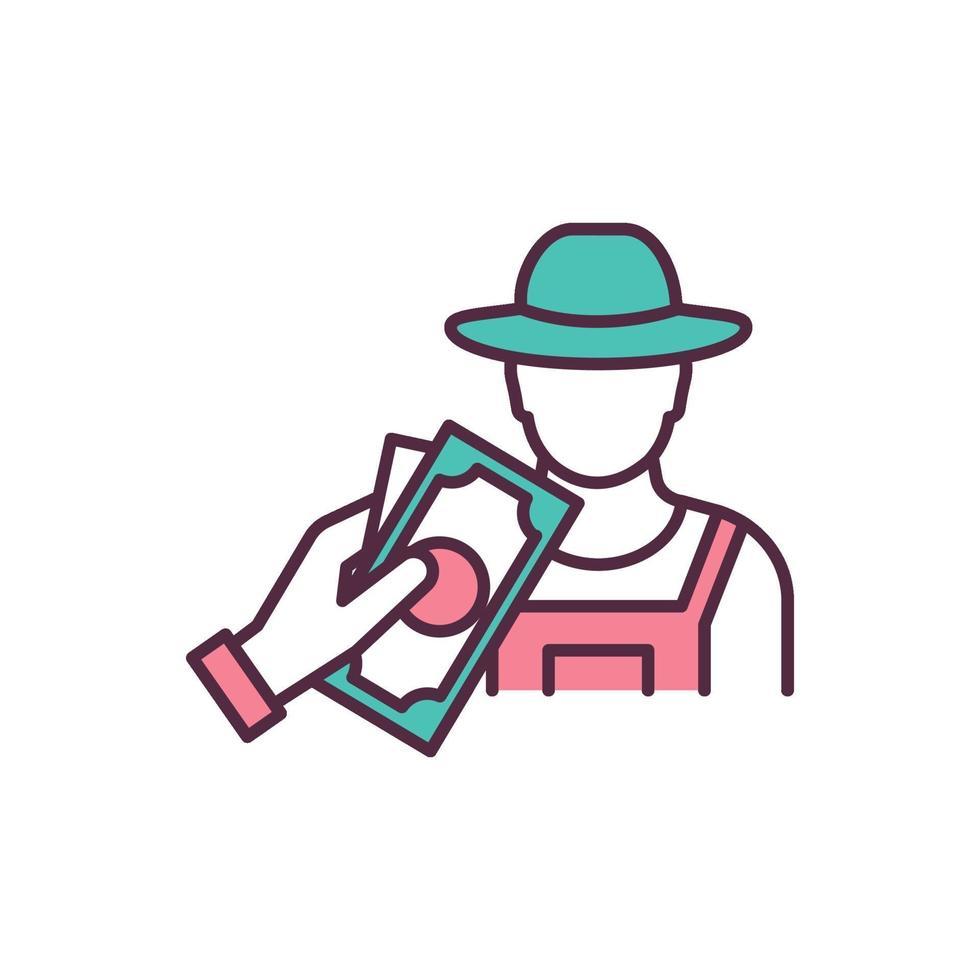 ícone de cor rgb de produtos agrícolas agrícolas vetor