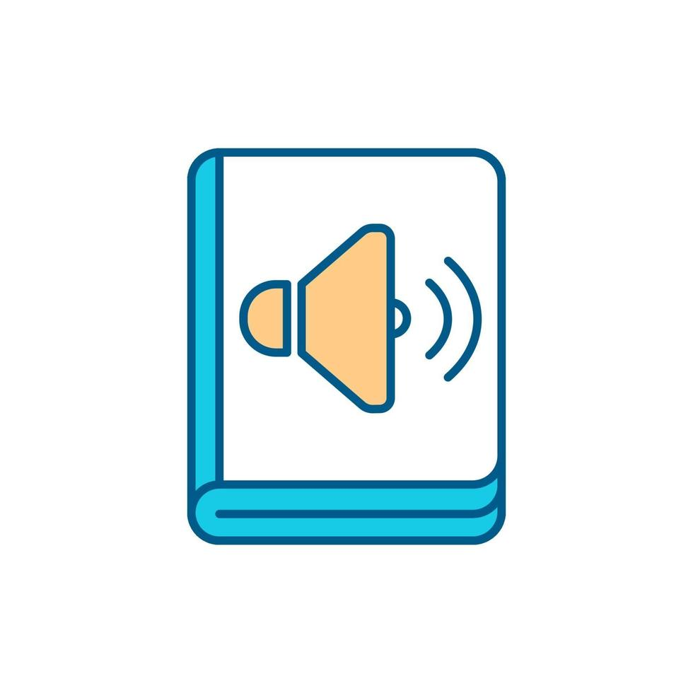 audiobooks rgb color icon vetor