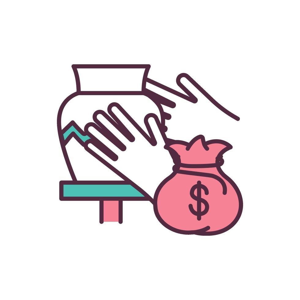 suporte ícone de cor rgb para pequenas empresas vetor