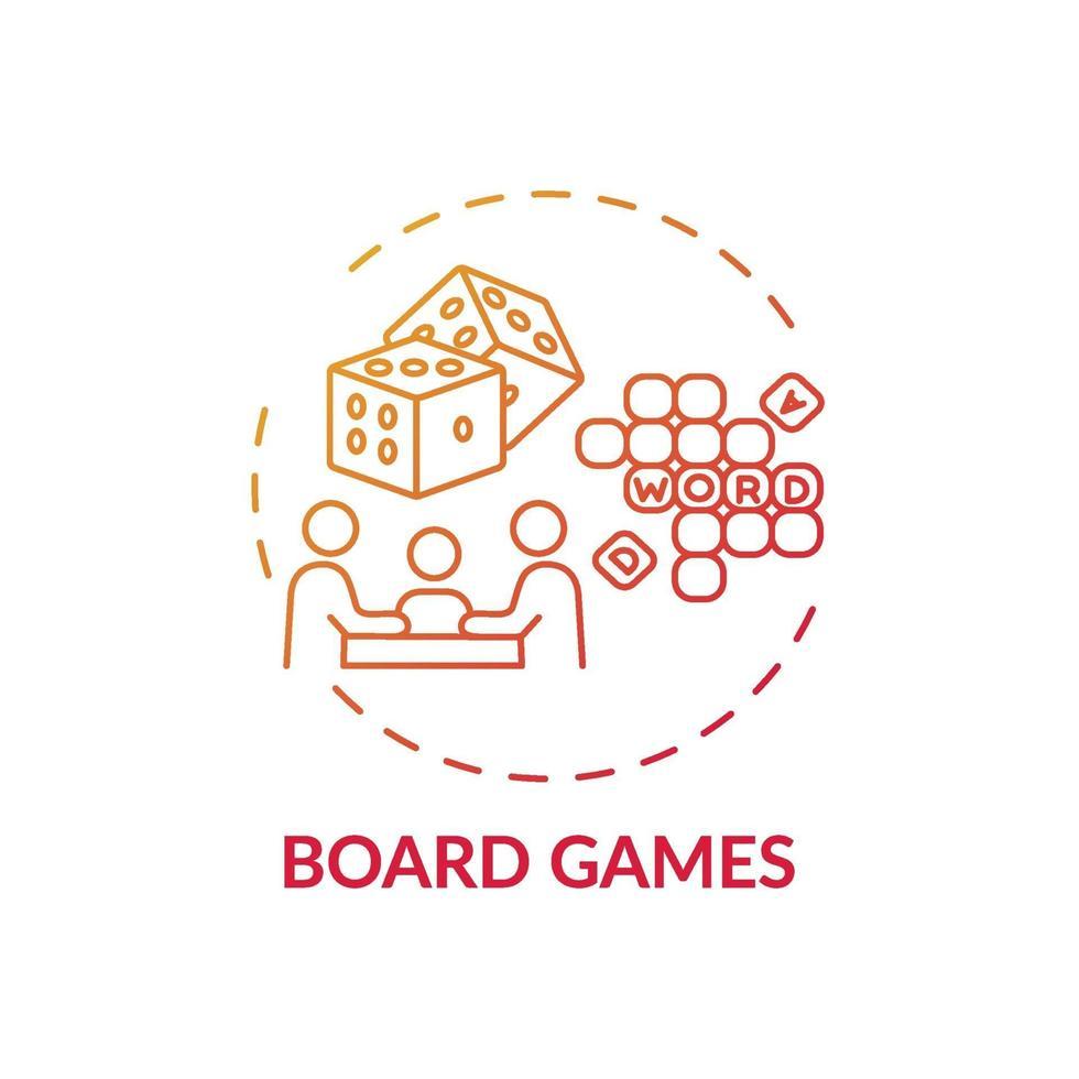 ícone do conceito de jogos de tabuleiro vetor