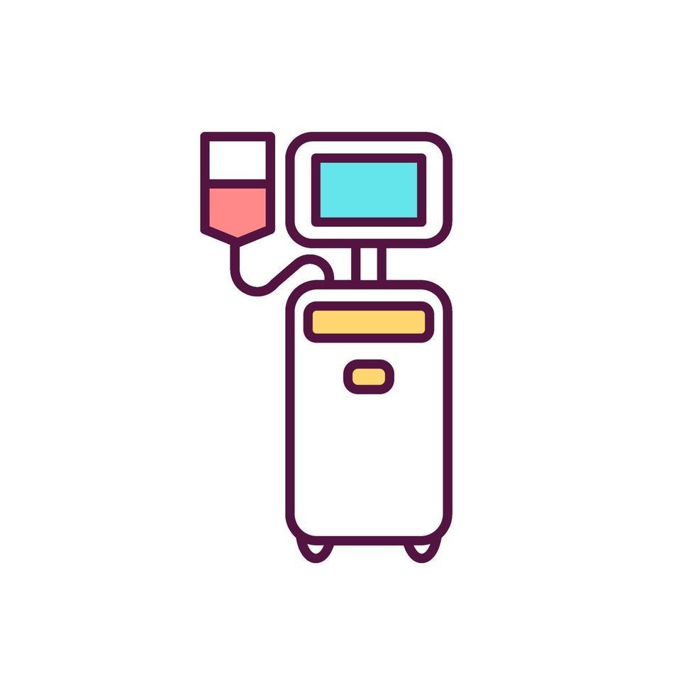 ícone de cor rgb de doação de plaquetas vetor
