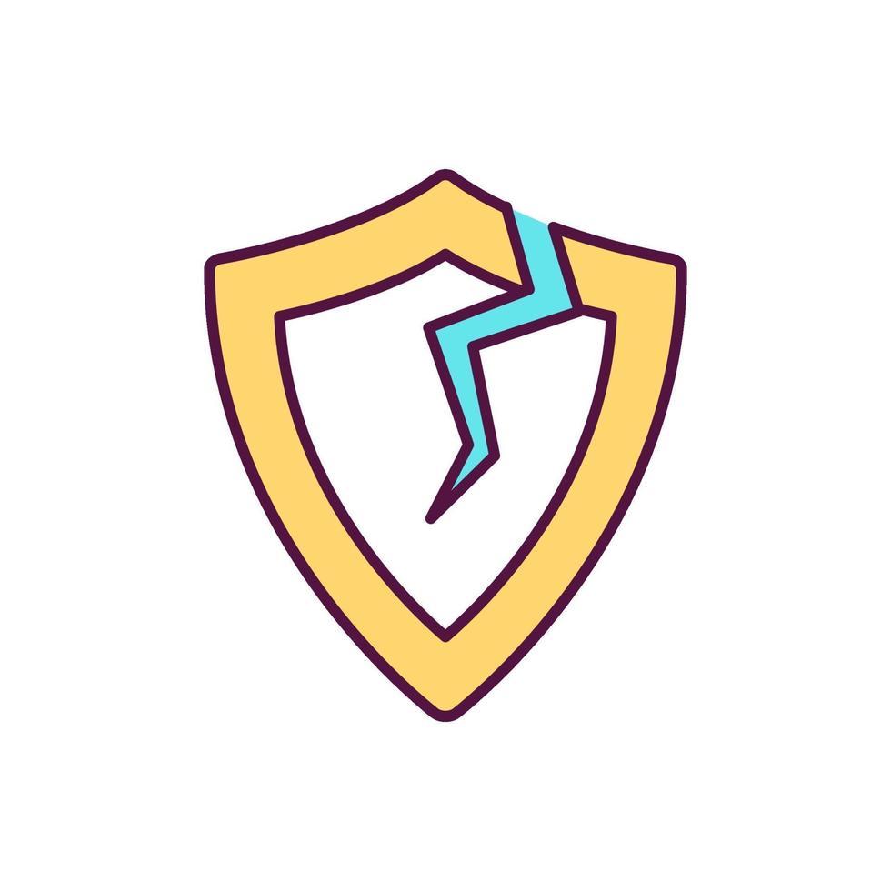 ícone de cor rgb de imunodeficiência vetor