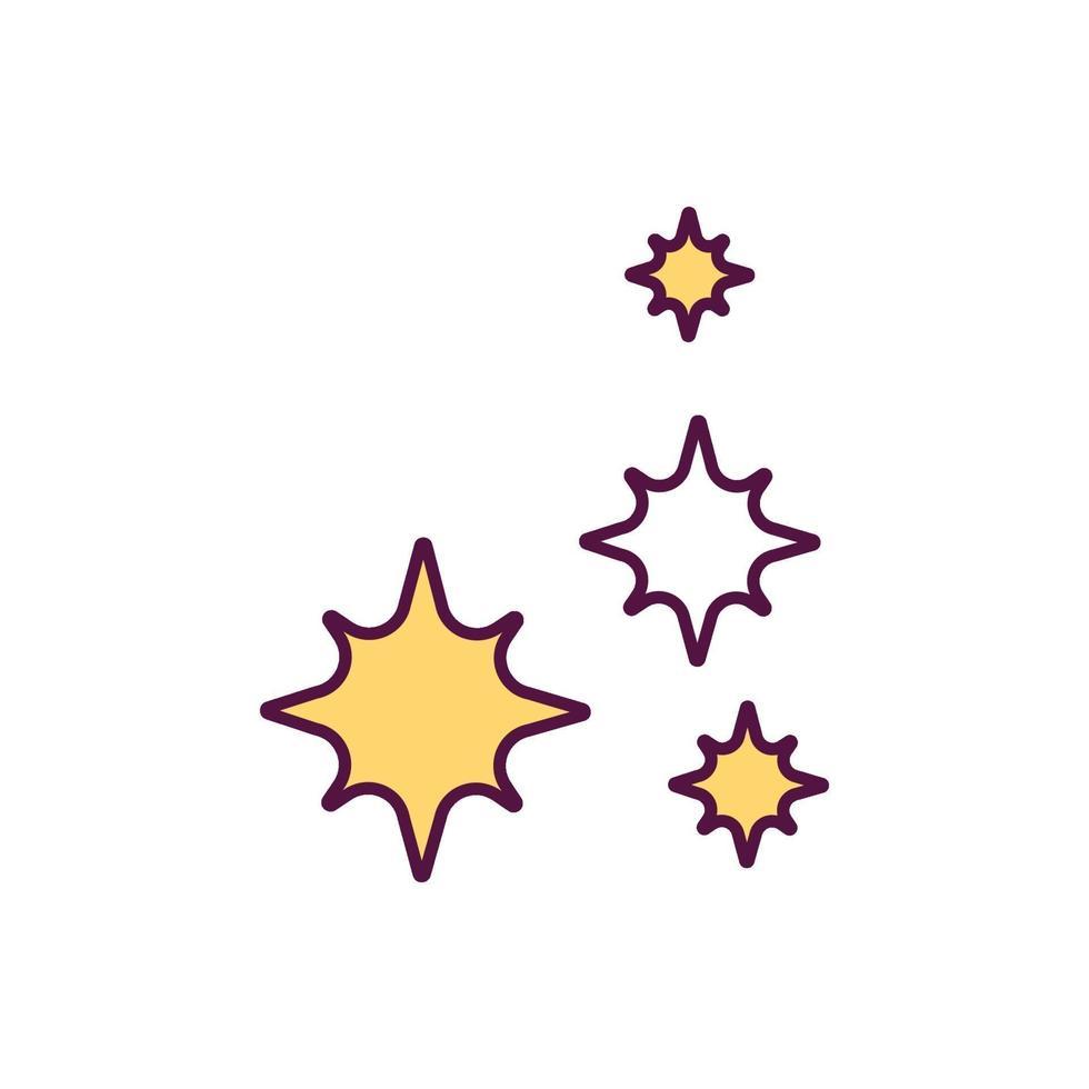 ícone de cor rgb de plaquetas vetor