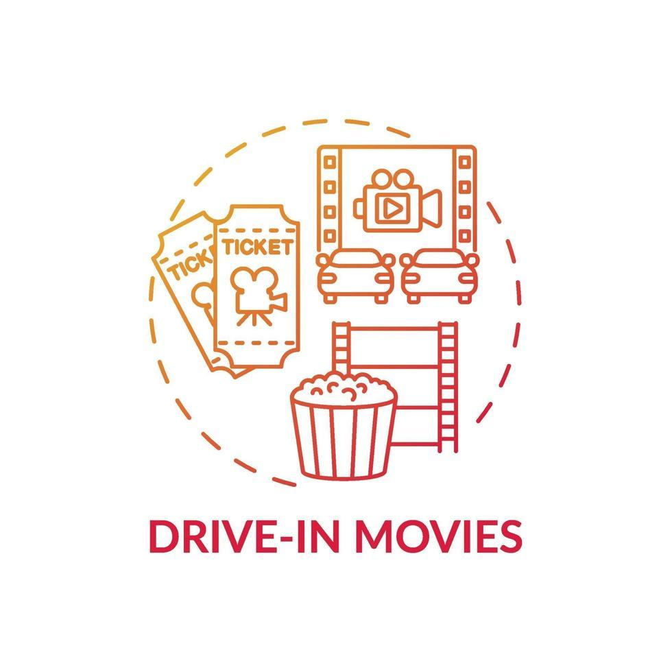 ícone do conceito de dirigir no cinema vetor