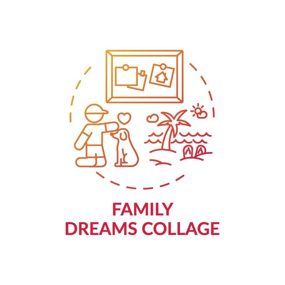 ícone de conceito de colagem de sonhos em família vetor