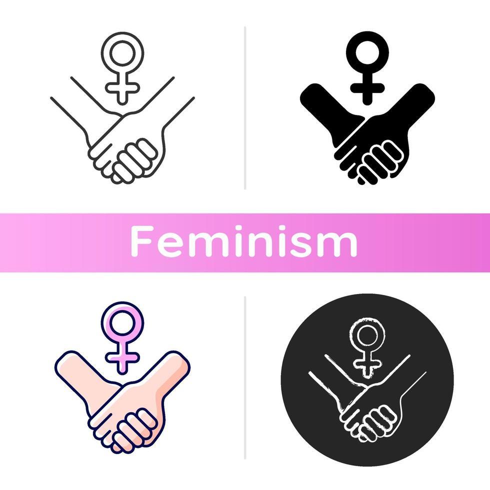 ícone de poder feminino vetor