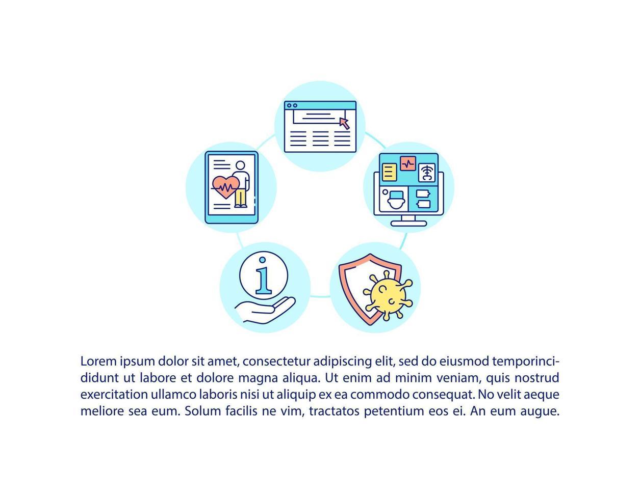 cobiçado ícone de conceito de plataforma de recuperação com texto vetor
