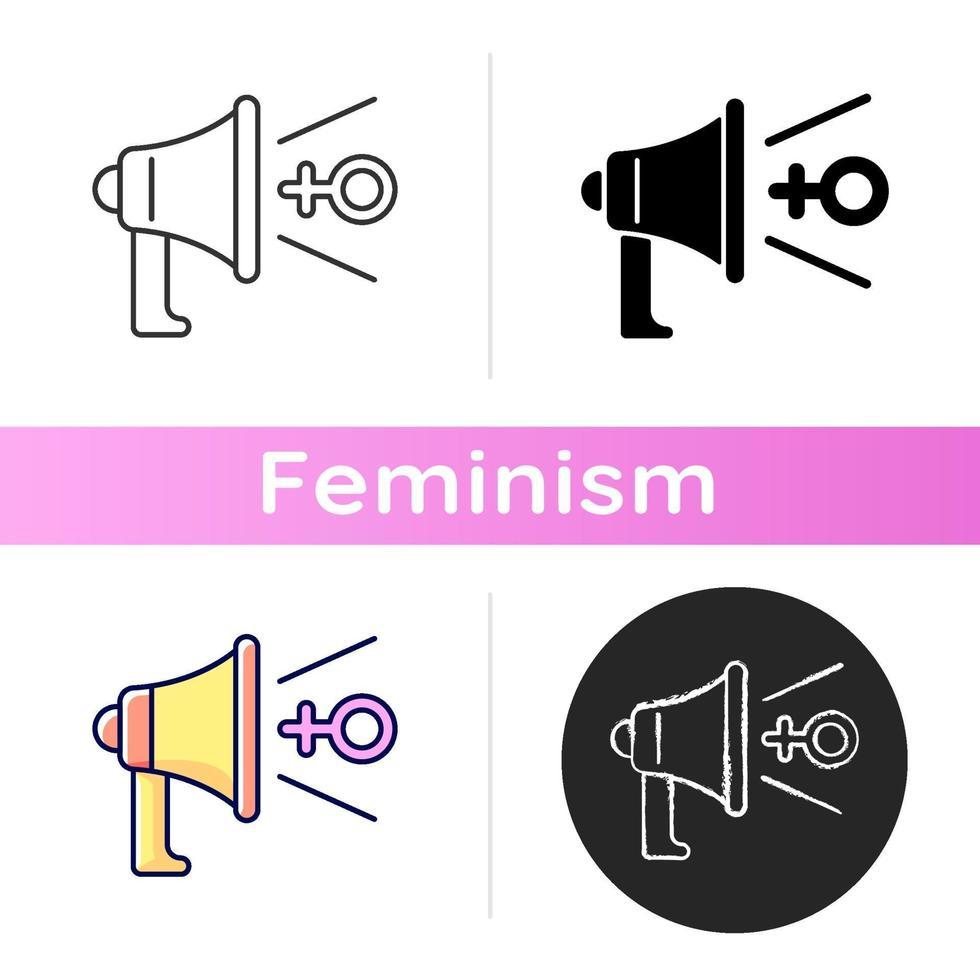ícone de defesa feminista vetor