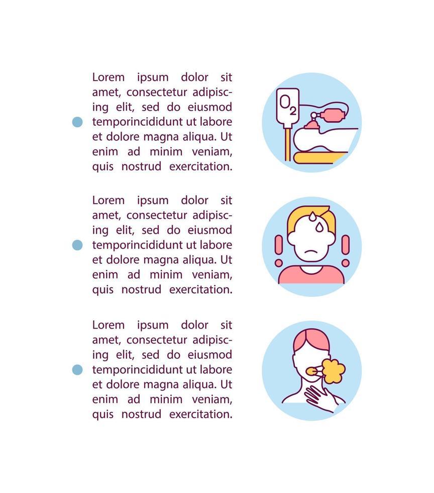 ícone do conceito de paciente cobiçoso grave com texto vetor